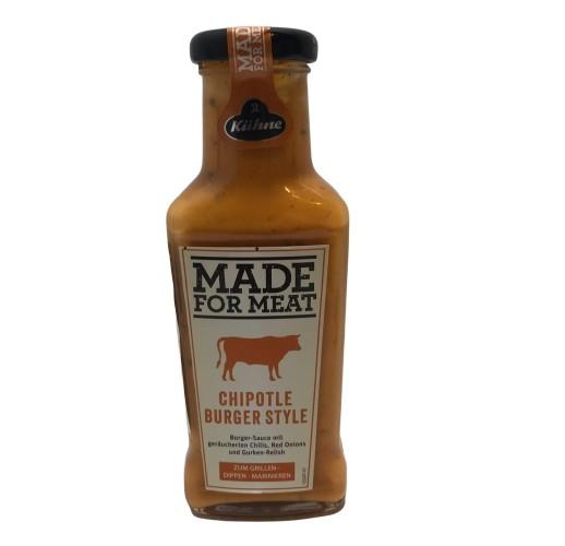 Соус Kuhne Made for Meat для бургеров с копченым перцем Чипотль 235мл