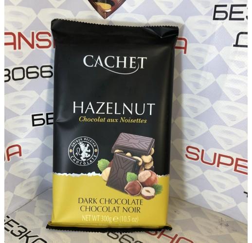 Шоколад чорний Cachet Dark Chocolate 54% with Hazelnut 300г